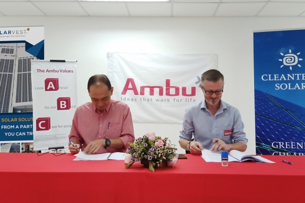 Ambu signs Power Purchase Agreement with Cleantech Solar in Malaysia
