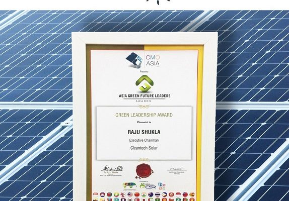 Mr. Raju Shukla awarded Green Leadership of the year at the CMO Asia Awards 2017