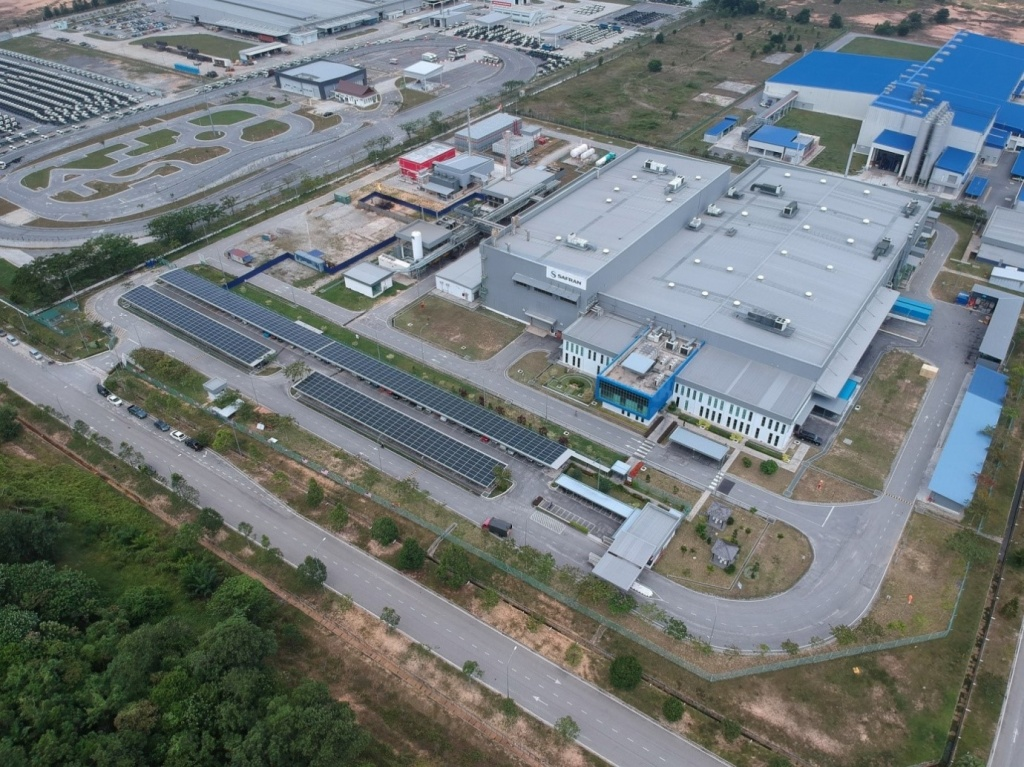 Safran Landing Systems Carport PV system with Cleantech Solar in Malaysia
