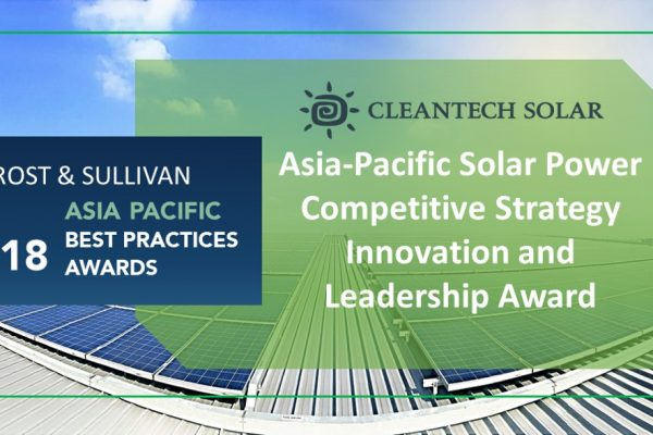 Frost & Sullivan Recognizes Cleantech Solar's Leadership in Asia-Pacific