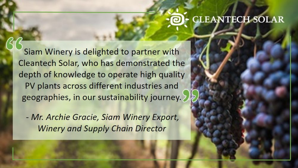 Cleantech Solar Siam Winery Solar Partnership