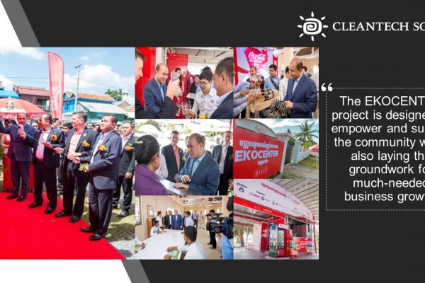 Cambodia's First EKOCENTER with Coca-Cola