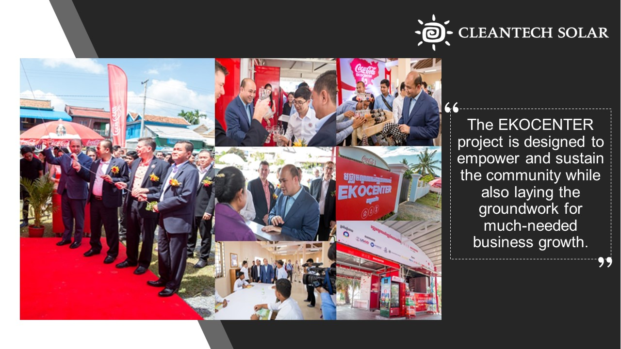 Cleantech Solar Contributing Partner for EKOCENTER Cambodia