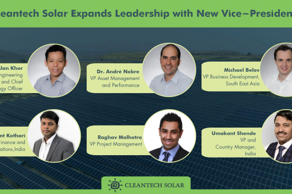 Cleantech Solar expands leadership with multiple team members assuming Vice President roles