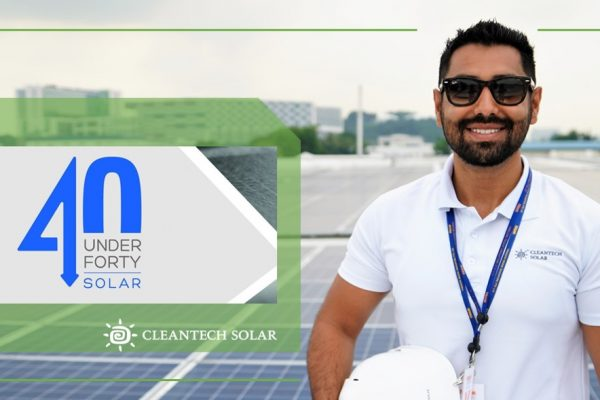 "Cleantech Solar Head of Project Management, Raghav Malhotra, honoured on ""Solar 40 Under 40"" List"