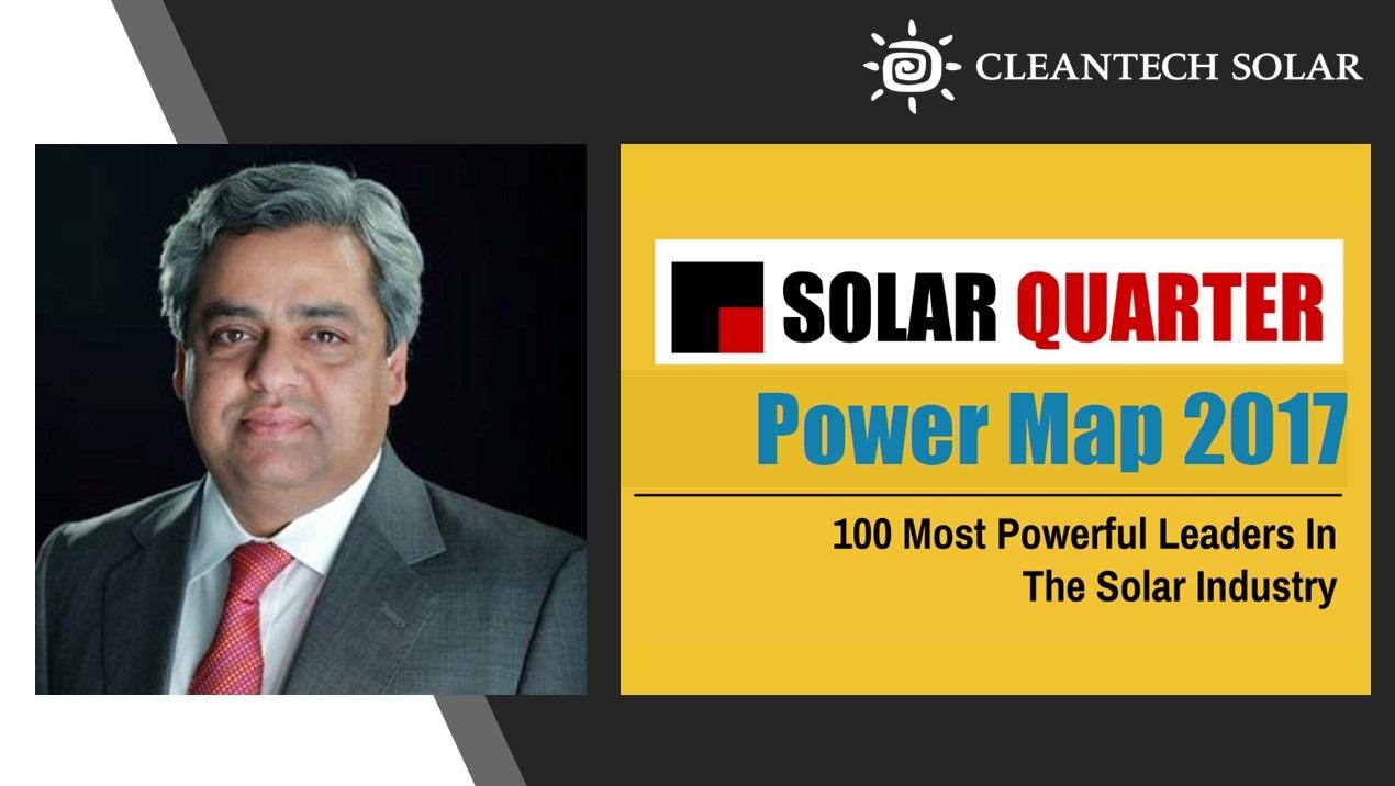 Raju Shukla Solar Quarter 100 Most Powerful Leaders In The Solar Industry