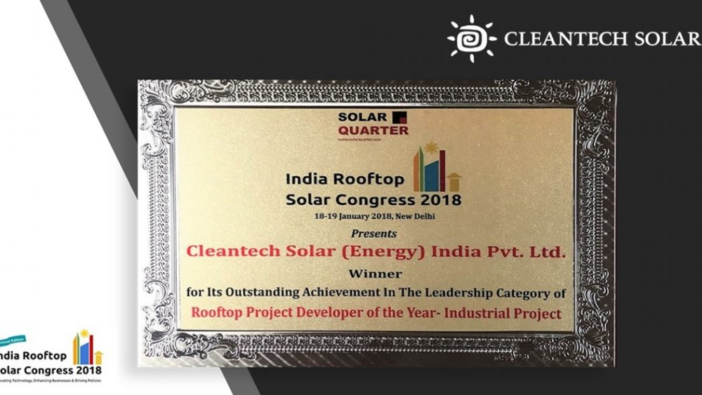 Rooftop Cleantech Solar as the Project Developer of the Year