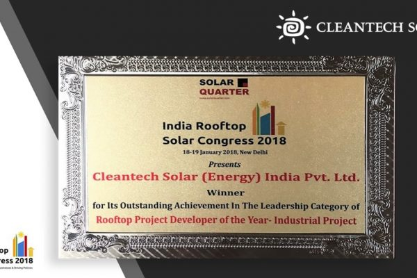Cleantech Solar as the solar rooftop project developer of the year